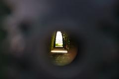 Blick durchs Schlüsselloch, Rom, Italien / Keyhole view, Rome, Italy
